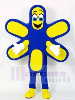 Blaue und gelbe Blume Maskottchen Kostüme Pflanze