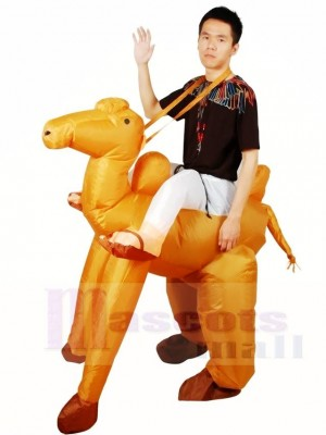 Fahren Sie mit dem aufblasbaren Kamel Halloween Weihnachten Kostüme für Erwachsene