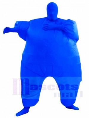 Blauer Ganzkörper Passen Aufblasbar Halloween Weihnachten Kostüme für Erwachsene
