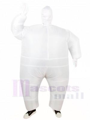 Weiß Voll Karosserie Passen Aufblasbar Halloween Weihnachten Kostüme für Erwachsene
