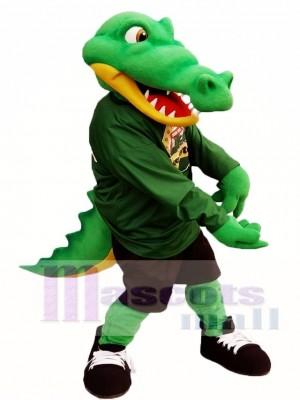 Grün Athlet Crocodile Maskottchen Kostüm Alligator Maskottchen Kostüme Erwachsene