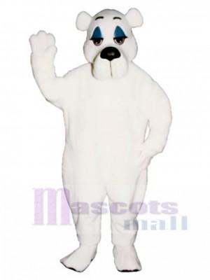 Comic Eisbär Weihnachten Maskottchen Kostüm