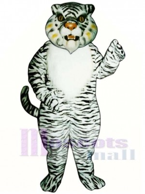 Nettes weißes Tiger Maskottchen Kostüm Tier