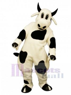 Nettes beschmutztes Kuh Maskottchen Kostüm