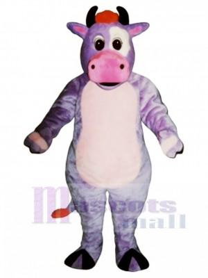 Nettes purpurrotes Kuh Maskottchen Kostüm