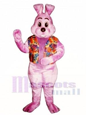 Ostern Lavendel Louie mit Weste Hase Kaninchen Maskottchen Kostüm