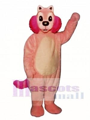 Rosa Nerz Maskottchen Kostüm