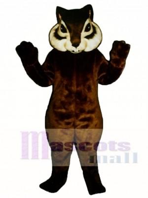 Realistischer Streifenhörnchen mit Kurzschwanz Maskottchen Kostüm