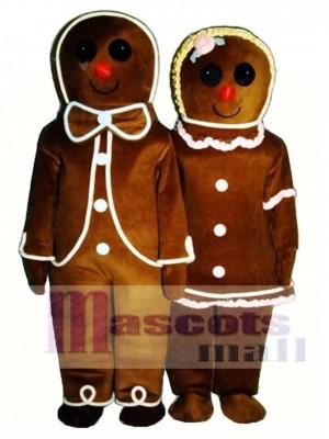 Lebkuchen Junge (links) Maskottchen Kostüm Weihnachten Xmas
