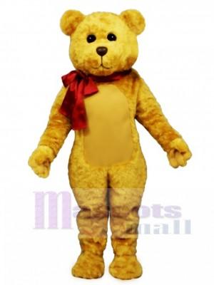 Neu gefüllter Teddybär mit Bogen Maskottchen Kostüm