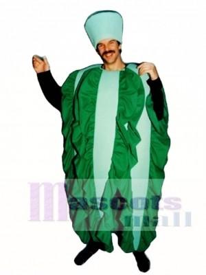 Blatt Salat Maskottchen Kostüm Gemüse