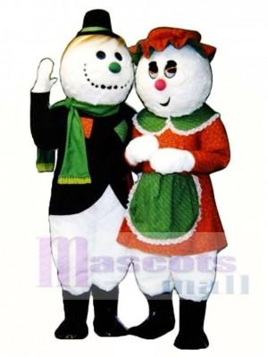 Oma Schnee Weihnachten Maskottchen Kostüm