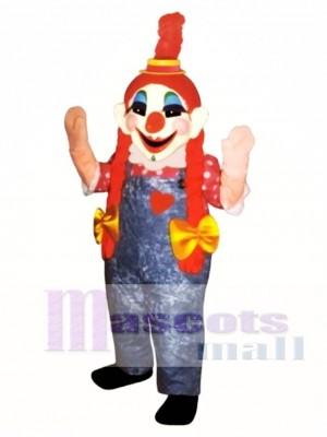 Clara Clown Maskottchen Kostüm