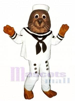 Nettes Segeln Otter Maskottchen Kostüm Tier