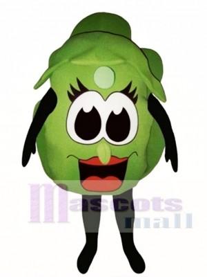 Salat Kopf Maskottchen Gemüse Kostüm