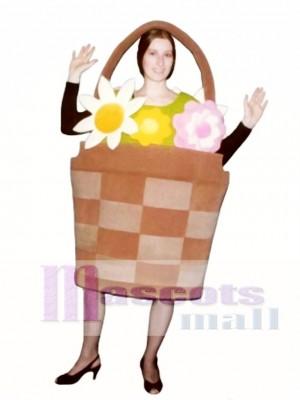 Korb mit Blumen Maskottchen Kostüm