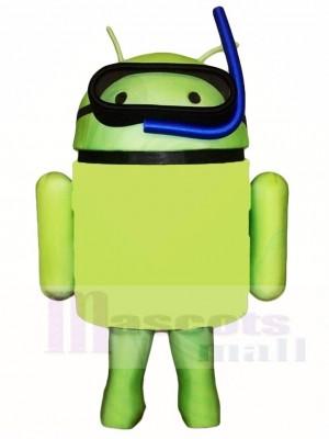 Android mit Schnorchel Maskottchen Kostümen