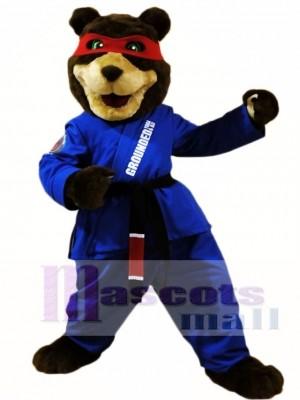 Schwarz Gürtel Taekwondo Bär Maskottchen Kostüme
