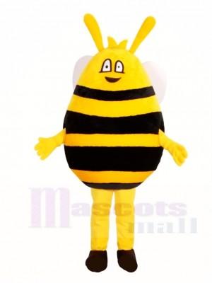 Gelbe und schwarze Biene Maskottchen Kostüme Insekt