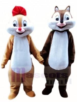 Chip und Dale Chipmunk Eichhörnchen Maskottchen Kostüme Tier