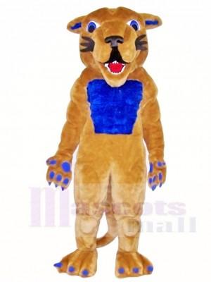 Cougar Maskottchen Kostüme mit blauem Muskel Tier