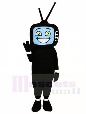 Schwarz TV Television Maskottchen Kostüme