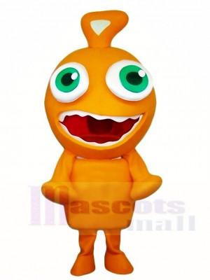 Orange Alien Maskottchen Kostüme