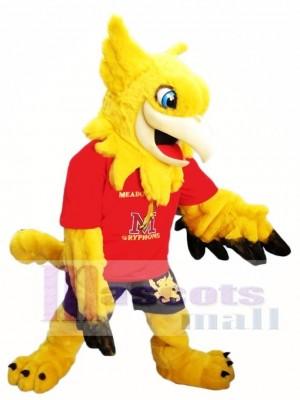 Gelbe Gryphon Griffin Maskottchen Kostüme