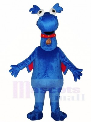 Blau Drachen Maskottchen Kostüme Tier