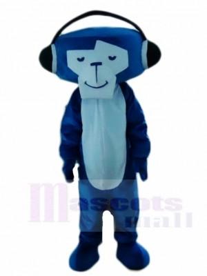 Blauer DJ Affe Maskottchen Kostüme Tier