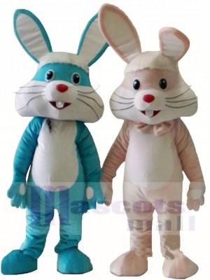 Rosa / blaues Kaninchen Ostern Hase Maskottchen Kostüme Tier