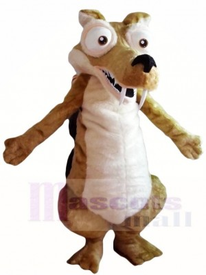 Ice Age Scrat Saber-toothed Squirrel Mascot Costumes Animal
