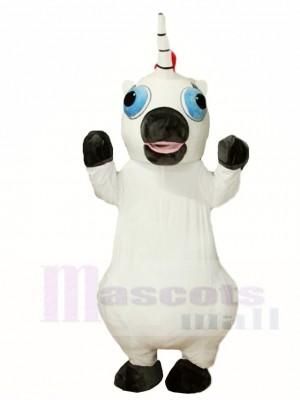 Weiße Einhorn Maskottchen Kostüme