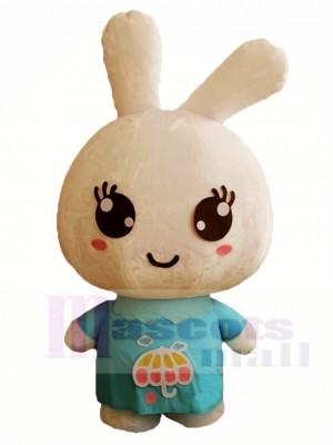 Blaues Hemd kaninchen Ostern Häschen Maskottchen Kostüme Tier