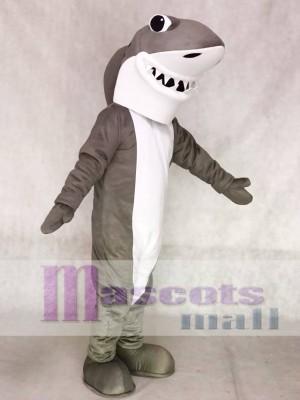 Grau und Weißer Hai Maskottchen Kostüme Ozean