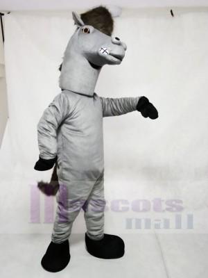 Grau Pfeffer Wild Hengst Pferd Maskottchen Kostüme Tier
