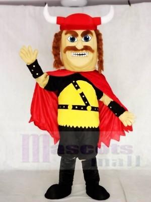 Roter starker Odin Wikinger Maskottchen Kostüme Menschen