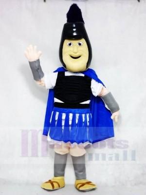 Troy Trojaner mit Königs blau Umhang Maskottchen Kostüme Menschen