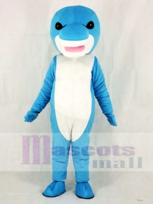 Blaues Hai Maskottchen Kostüm Meer