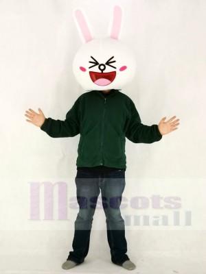 Grinsendes Cony Kaninchen Häschen Maskottchen KOPF NUR Linien Stadt Freunde