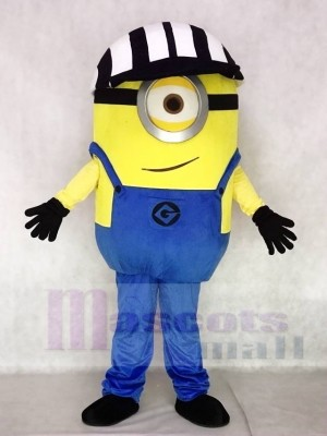 Despicable Me Minions One Eye mit Hut Maskottchen Kostüme Cartoon