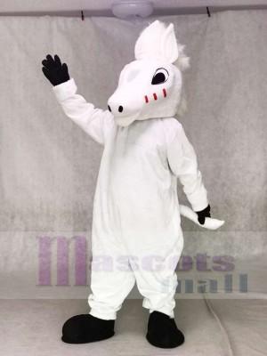 Niedliches Weiß Pferd Maskottchen Kostüme Tier