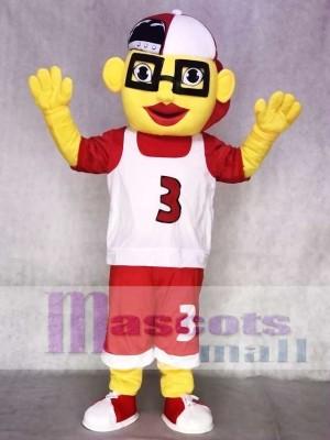 Basketball Junge Maskottchen Kostüm mit Mütze