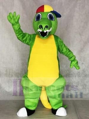 Grünes Krokodil Maskottchen Kostüme Alligator für Erwachsene