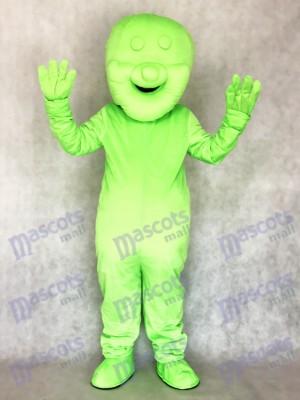 Grün Gelee Baby Essen Snack Maskottchen Kostüm