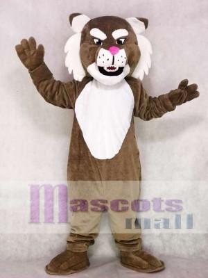 Realistisch Braun Muskel Wildcat Maskottchen Kostüm Tier