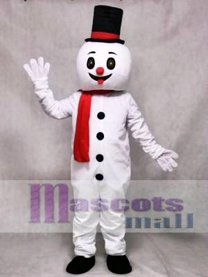 Weihnachten Schneemann mit Hut Maskottchen Kostüm