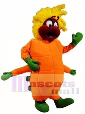 Orange Raupe Maskottchen Kostüme Insekt