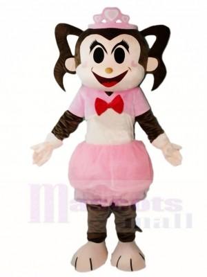 Pinkes Kleid Affe Mädchen Maskottchen Kostüme Tier