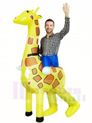 Giraffe Mach mich weiter Weihnachten Aufblasbar Halloween Kostüme für Erwachsene